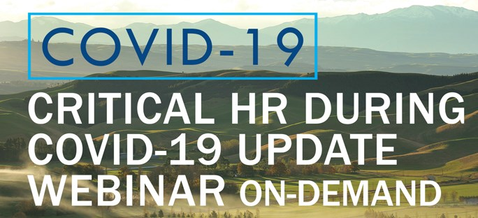 Critical HR During COVID-19 Update