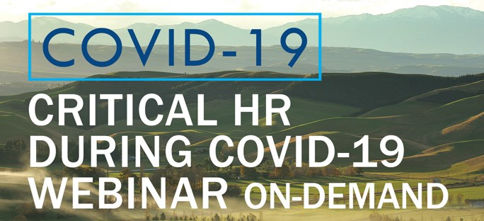 Critical HR During COVID-19